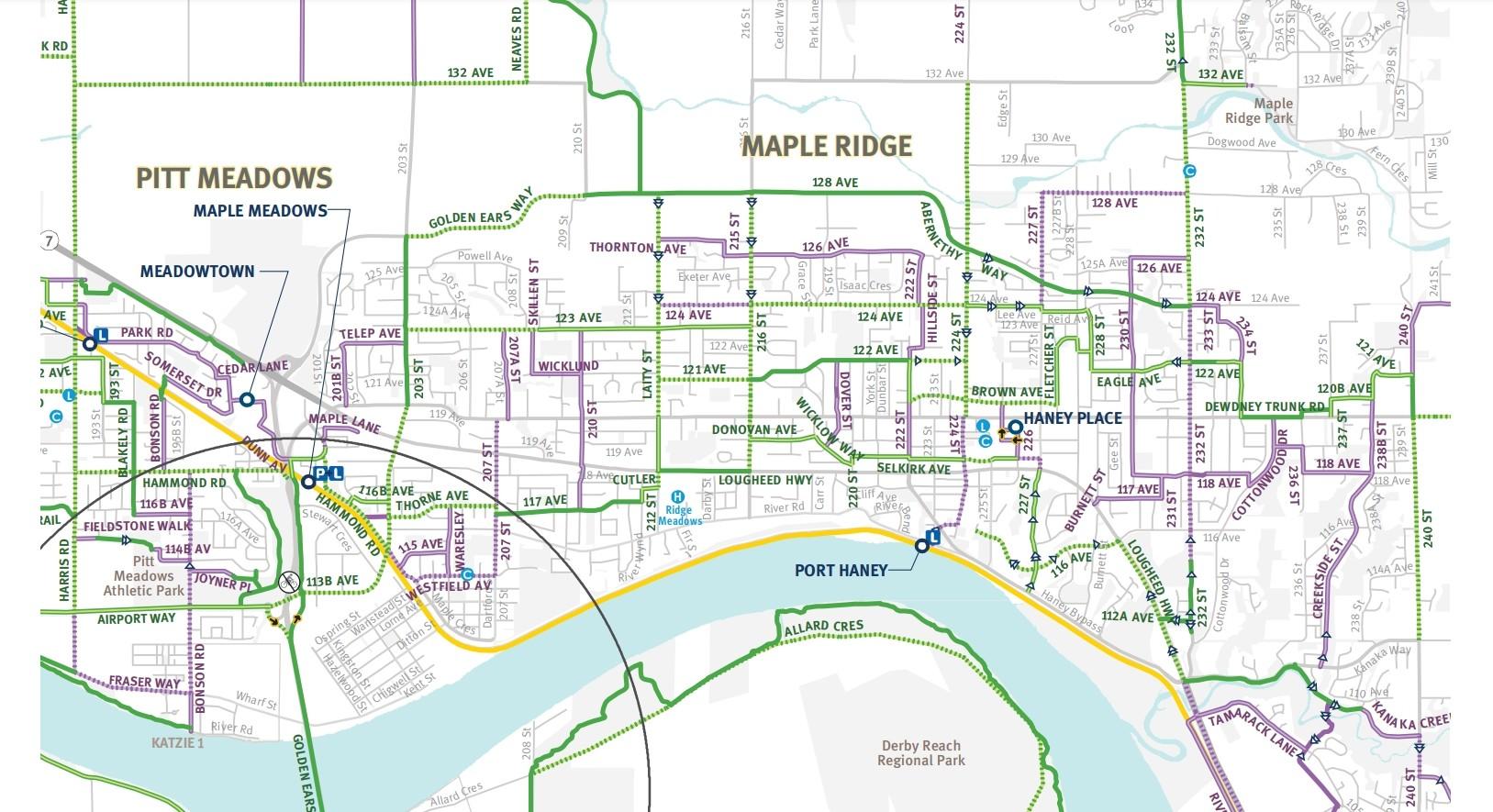 Maple Ridge bike map