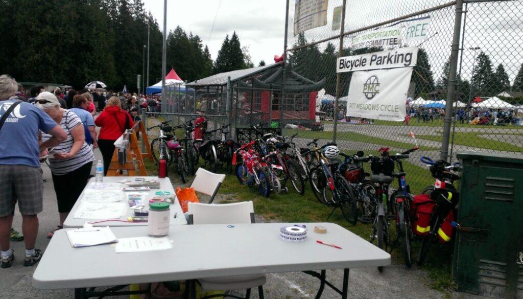 Pitt Meadows Day bike parking